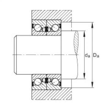 FAG محوري الزاوي الاتصال الكرات - BSB3062-2Z-SU
