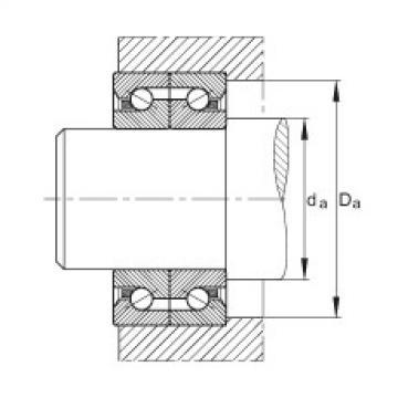 FAG محوري الزاوي الاتصال الكرات - BSB3062-SU-L055