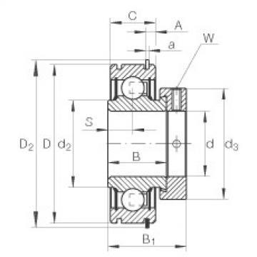FAG شعاعي إدراج الكرات - RAE20-XL-NPP-NR
