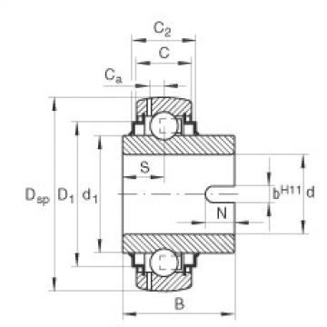 FAG شعاعي إدراج الكرات - GLE40-XL-KRR-B