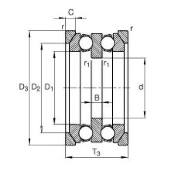 FAG محوري الأخدود العميق الكرات - 54205 + U205