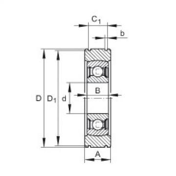 FAG شعاعي إدراج الكرات - BE35-XL