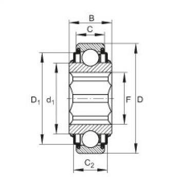 FAG Self-aligning deep groove ball bearings - SK014-205-KRR