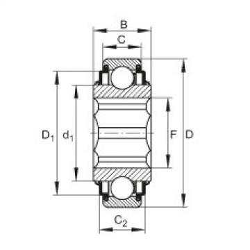 FAG Self-aligning deep groove ball bearings - SK104-207-KRR-L402/70-AH12