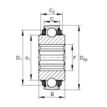 FAG Self-aligning deep groove ball bearings - SK104-207-KTT-B-L402/70