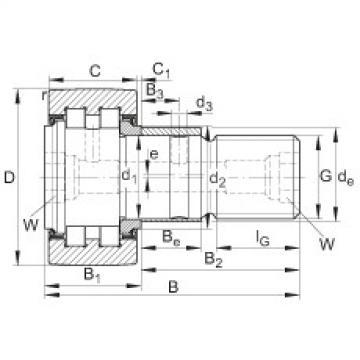 FAG مسمار نوع بكرات المسار - PWKRE52-2RS
