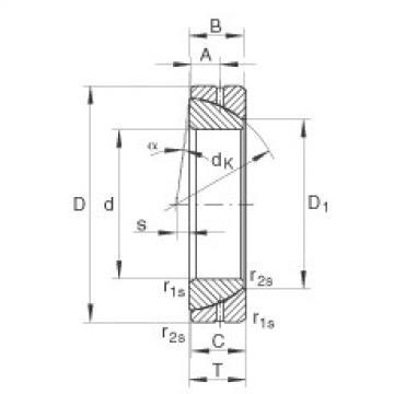 FAG Angular contact spherical plain bearings - GE70-SX