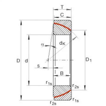 FAG Angular contact spherical plain bearings - GE35-SW
