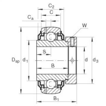 FAG شعاعي إدراج الكرات - GE35-XL-KRR-B-2C