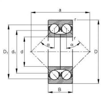 FAG الزاوي الاتصال الكرات - 3305-DA-TVP