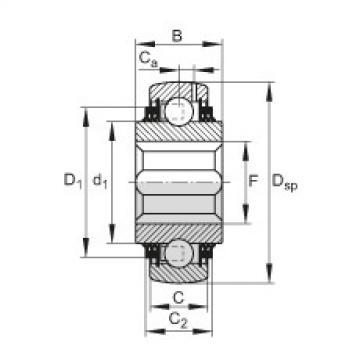 FAG Self-aligning deep groove ball bearings - GVK102-208-KTT-B-AH10