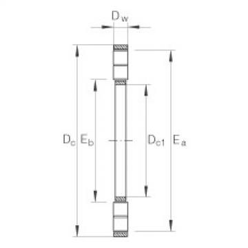 FAG Axial cylindrical roller and cage assembly - K89314-TV