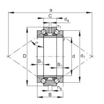 FAG محوري الزاوي الاتصال الكرات - 234407-M-SP