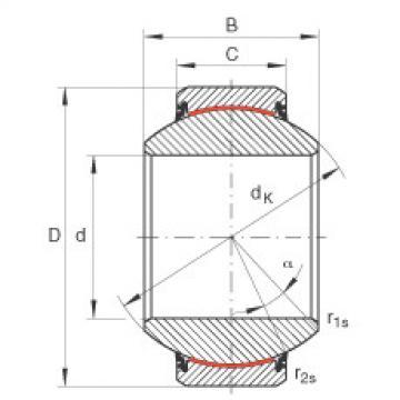 FAG Radial spherical plain bearings - GE70-FW-2RS