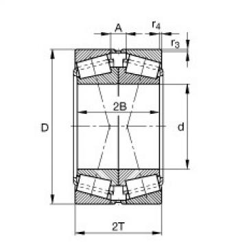 FAG تناقص الأسطوانة المحامل - 31313-XL-DF-A120-160