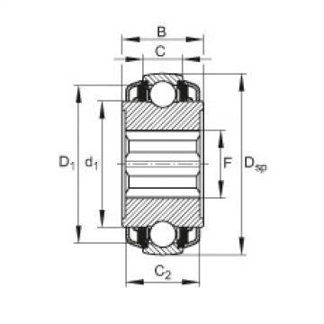 FAG Self-aligning deep groove ball bearings - VKE30-212-KTT-B-2C