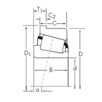 المحامل 14125A/14276-B Timken