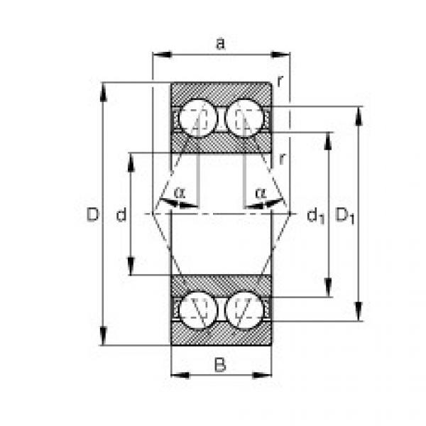 FAG الزاوي الاتصال الكرات - 3205-BD-XL-TVH #1 image