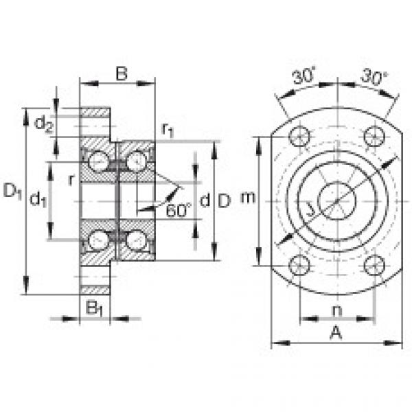 FAG Angular contact ball bearing units - ZKLFA1563-2RS #1 image