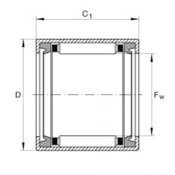 FAG تعادل كأس إبرة محامل مع نهاية مفتوحة - SCE1616-PP #1 image