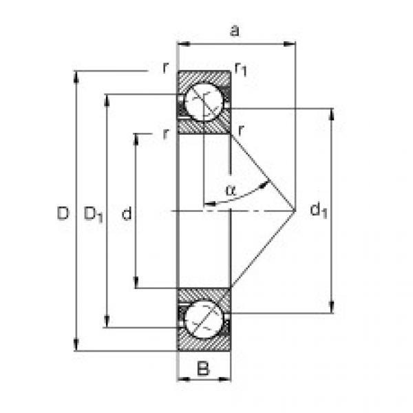 FAG الزاوي الاتصال الكرات - 7203-B-XL-MP #1 image