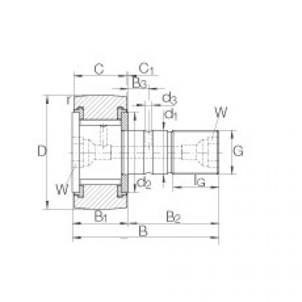 FAG مسمار نوع بكرات المسار - KRV52-PP #1 image