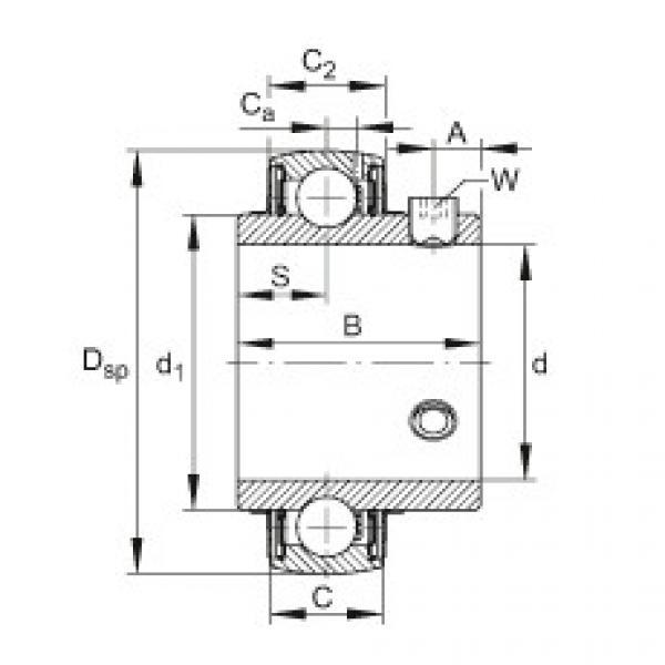 FAG شعاعي إدراج الكرات - UC205-16 #1 image