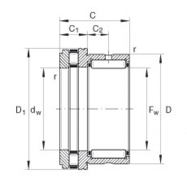 FAG إبرة بكرة / محوري أسطواني محامل - NKXR15-XL #1 image