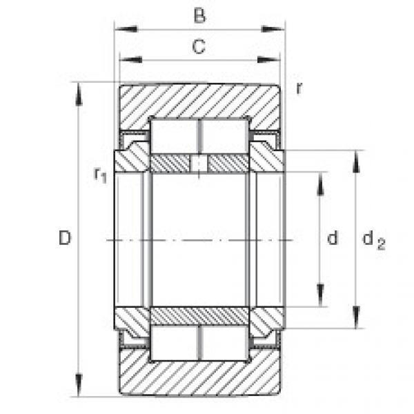 FAG نير نوع بكرات المسار - NUTR1542 #1 image