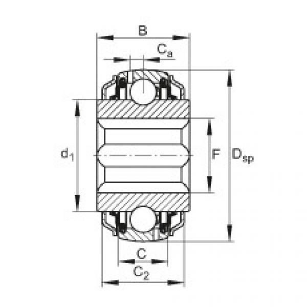 FAG Self-aligning deep groove ball bearings - GVKE16-205-KRR-B-2C-AS2/V-AH01 #1 image