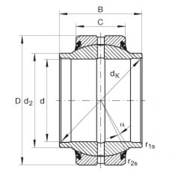 FAG Radial spherical plain bearings - GE25-HO-2RS #1 image