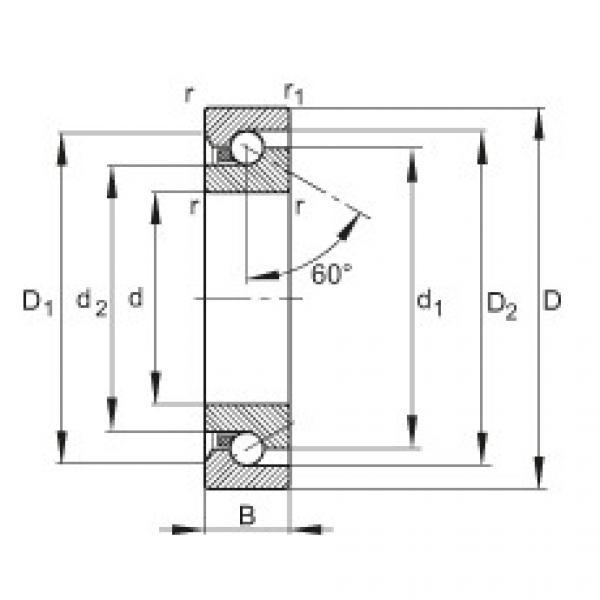 FAG محوري الزاوي الاتصال الكرات - BSB2047-SU-L055 #1 image