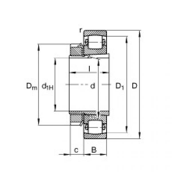 FAG برميل محامل - 20313-K-MB-C3 + H313 #1 image