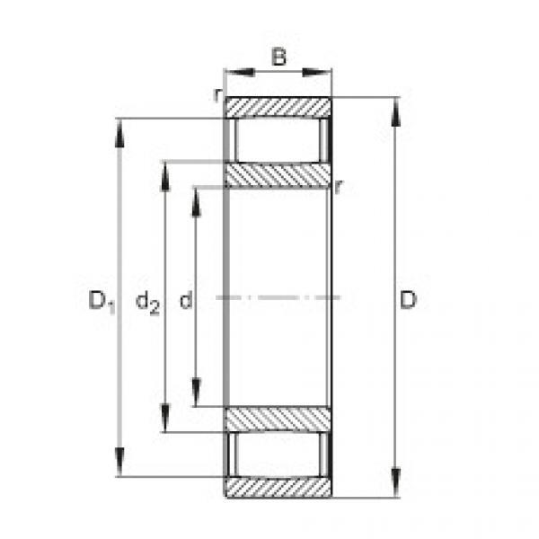 FAG محامل حلقية - C2214-XL-V #1 image